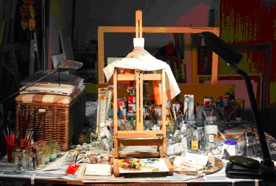 Ramon Gasch al seu estudi