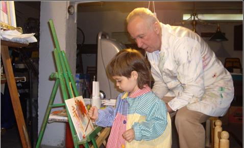 Ramon Gasch i la seva néta Ona