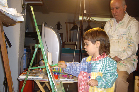 Ramon Gasch i la seva neta Ona